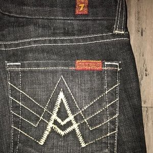 7 For All Mankind 7FAM A Pocket Flare Jeans 25